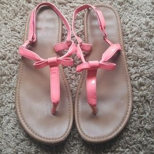 5FOR25 SMARTFIT pink neon sandals with bow